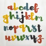 Cursive Alphabet Appliqué Sets For Crocheters, Lower & Upper Case Lettering!