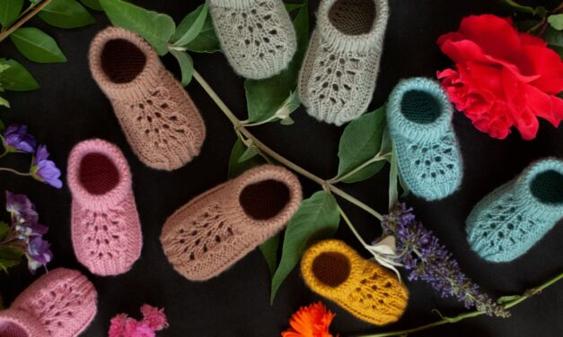 Knit a Pair of Elegant Baby Shoes … Plus, These Sweet Kicks Are Designed To Stay On!