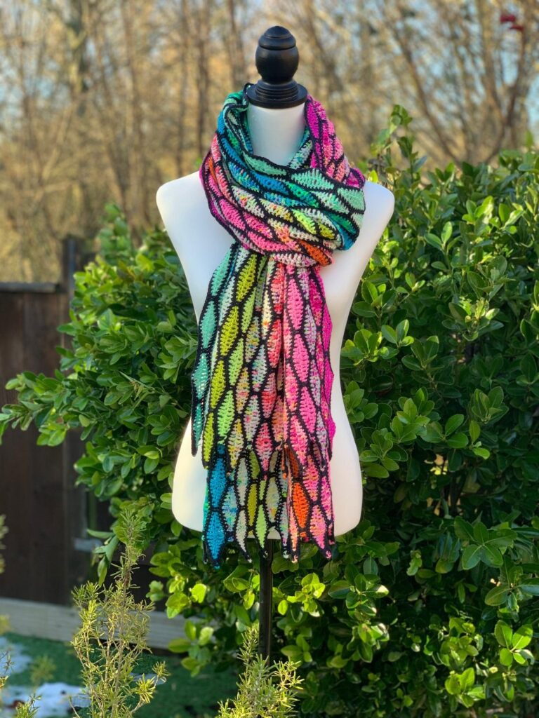 Crochet a Color My Life Shawl, This Consciousness-Expanding Look Is Worked Sideways!
