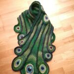 Crochet a Beautiful & Elegant Peacock Scarf Designed By Sarah Lidster