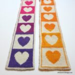 There's Never Been a Better Time To Knit a Colorful Hearts Scarf … Stitch It With Love