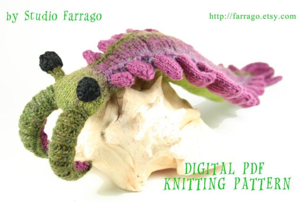 Ever Thought, 'Hey, I Should Knit a Anomalocaris?' Well, Now There's a Pattern To Knit This Prehistoric Primordial Beast Softie!