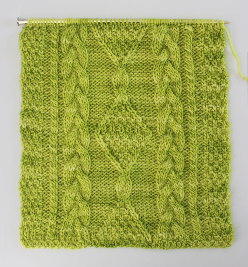cable knit patterns designed by Kristen McDonnell of Studio Knit #knitting #knit