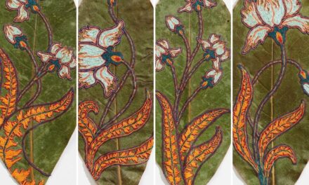 Two New Takes On The Delicate Art Of Leaf Embroidery