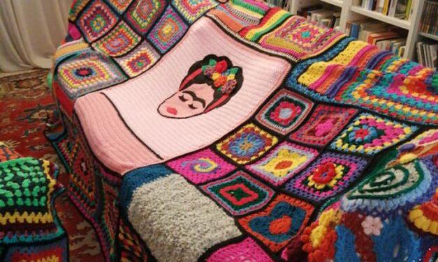 Patrizia Marcato's Colorful Frida Kahlo Afghan … I Love It!