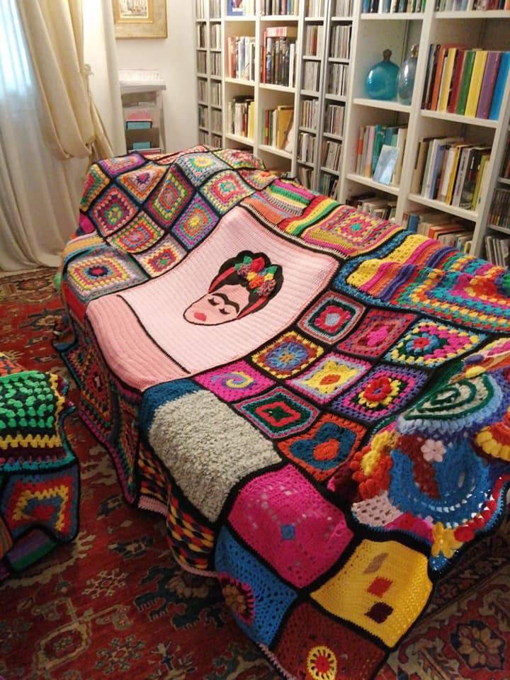 Patrizia Marcato's Colorful Frida Kahlo Afghan ... I Love It!