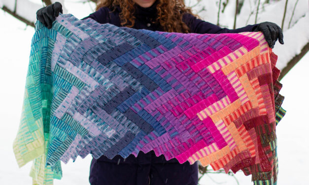 Once You See It, You'll Want To Knit This D'aeki Wrap Designed By Stephanie Alford … Look Ma, No Seams & No Sewing!