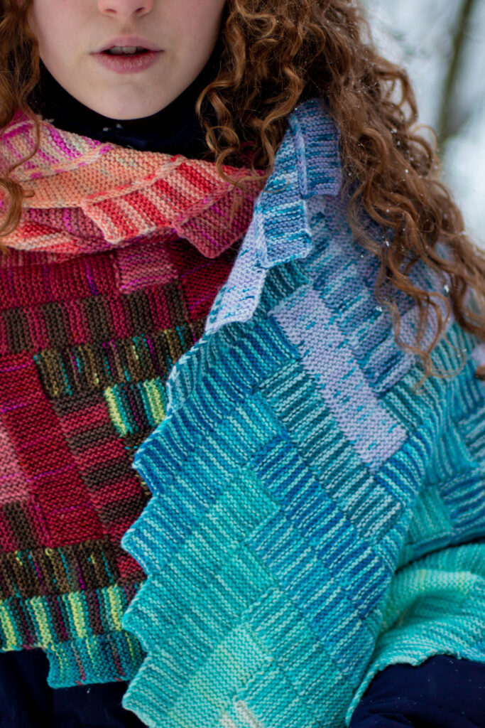 Once You See It, You'll Want To Knit This D'aeki Wrap Designed By Stephanie Alford ... Look Ma, No Seams & No Sewing!