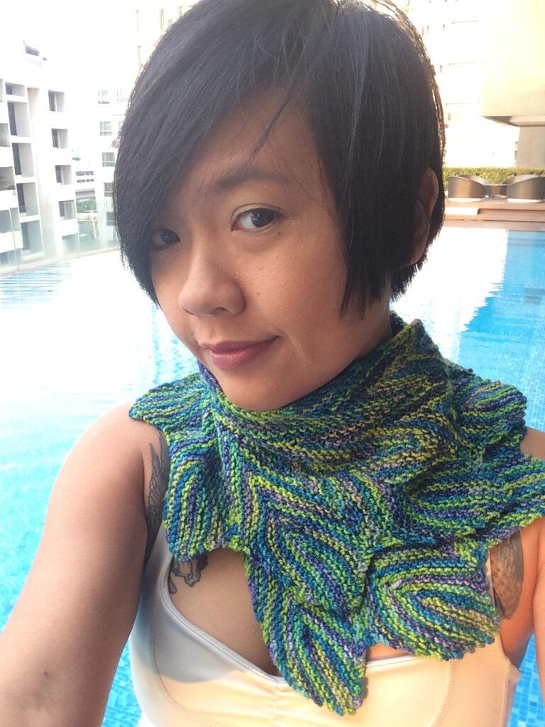 Knit a Sassy Pincha Shawl Designed By Pinpilan Wangsai ... Free Pattern!