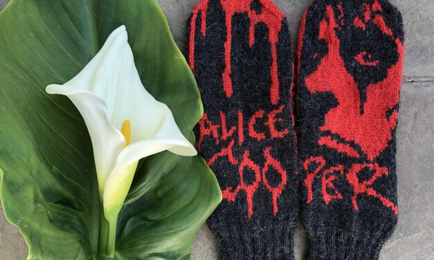 Knit a Pair of Alice Cooper Mittens Designed By Lotta Lundin