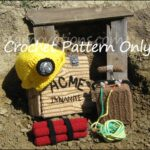 Crochet a Miner Hard Hat & Mining Set … This Fun Cosplay Includes Dynamite!