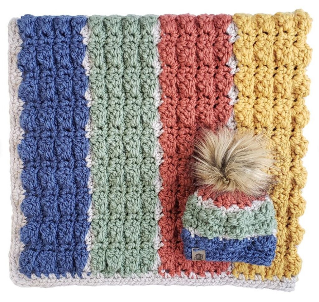Crochet an Atlas Baby Blanket and Hat, The Perfect Baby Shower Gift!