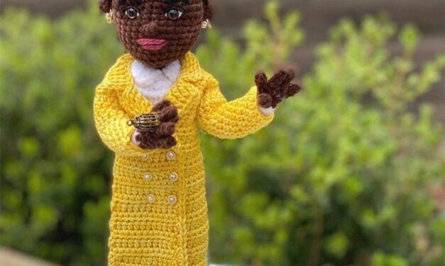 Crochet An Amanda Gorman-Inspired Amigurumi Doll Designed By Crafty Is Cool, A Portion of Pattern Proceeds Goes To Support 826 National