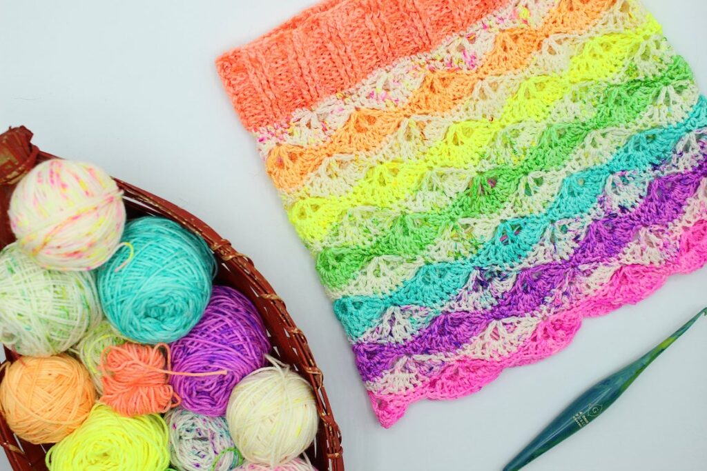 This Bright and Cheery Cowl Will Have You Wishing For Spring and Crocheting For Joy!