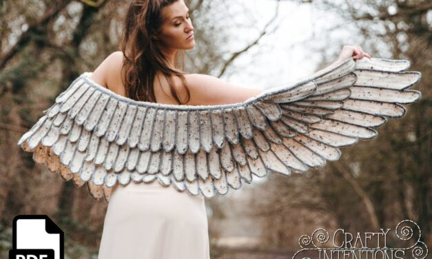 Crochet a Feather Wing Crochet Shawl Pattern Designed By Megan Lapp of Crafty Intentions