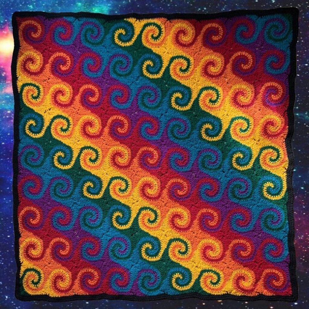 Crochet a Gorgeous Rainbow Galaxy Blanket ... This Is The Definition Of Unique!