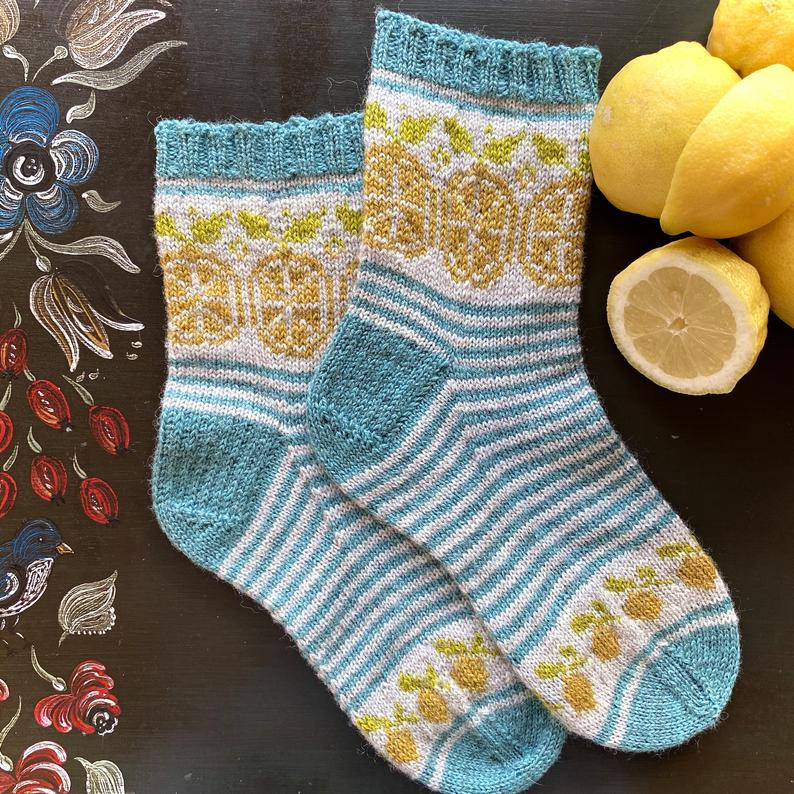 Knit Socks Designed By Charlotte Stone #knitting