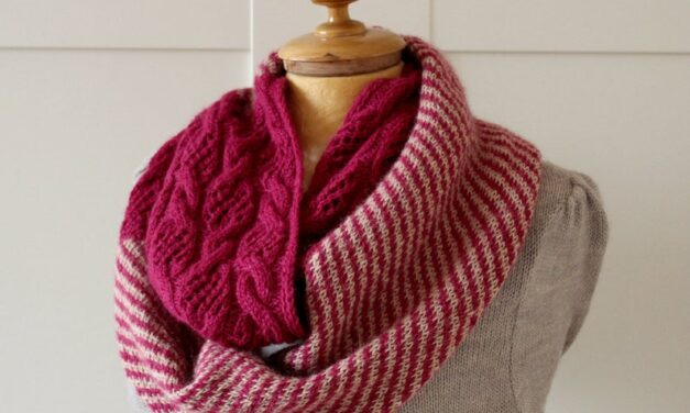 Cables & Lace Meet Up To Make This Easy Infinity Scarf … Hello, Next Project!