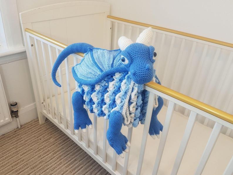 Crochet a 3-in-1 Dragon Baby Blanket ... So Cute!