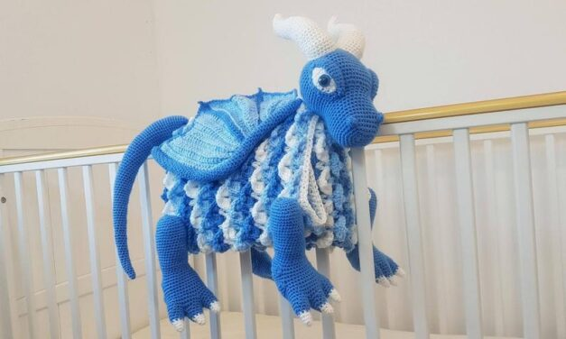 Crochet a 3-in-1 Dragon Baby Blanket … So Cute!