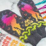 Guaranteed To Light Up your Life … Crochet a Pair of Magical Rainbow Unicorn Mittens!