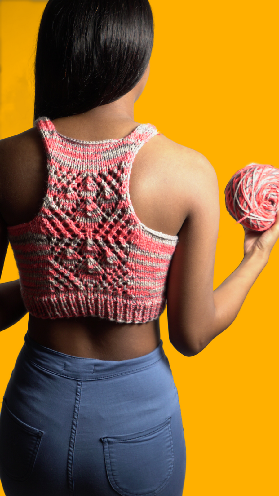 Cute Knit Halter Top Pattern Alert ... Designed By Lisa Borum Of LSB Creates