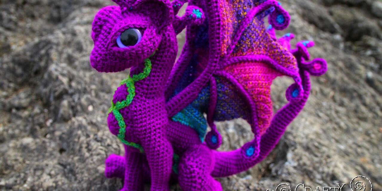 Crochet A Fantastical Fairy Cat Dragon Amigurumi, Pattern Designed By Megan Lapp Of Crafty Intentions