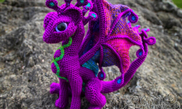 Crochet A Fantastical Fairy Cat Dragon Amigurumi, Pattern Designed By Megan Lapp Of Crafty Intentions