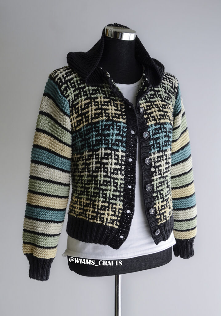 Knit a Hashtag Jacket Designed by Wiam's Crafts ... Free Pattern!