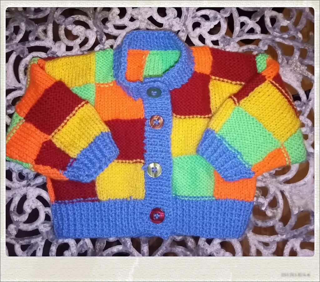 For Babies Only! Now You Can Knit a Harry Styles' Color Block Patchwork Cardigan For Your Favorite Tiny Human