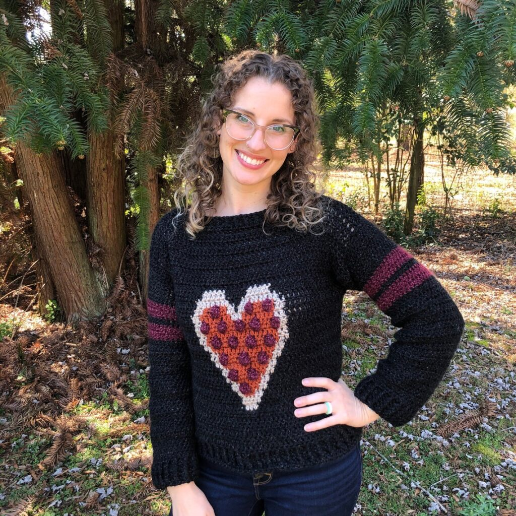 Everyone Loves Pizza! Crochet a 'Heart Pizza' Sweater For Everyone In Your Family, Big & Small!