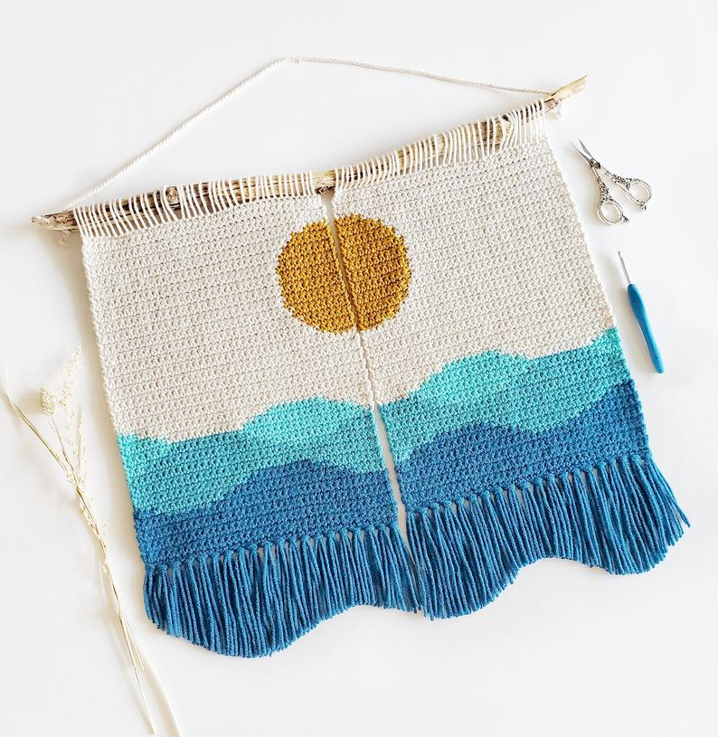 Stunning Crochet Wall Hanging Patterns Designed By Amanda of Love and Stitch Designs