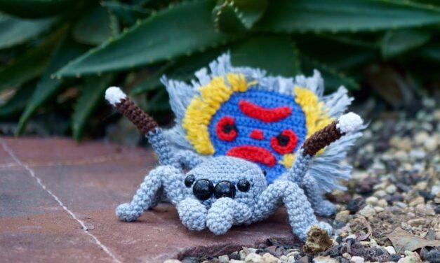 Kabelbinder's Spectacular Peacock Spider Amigurumi Patterns … I Spy A Sparklemuffin!