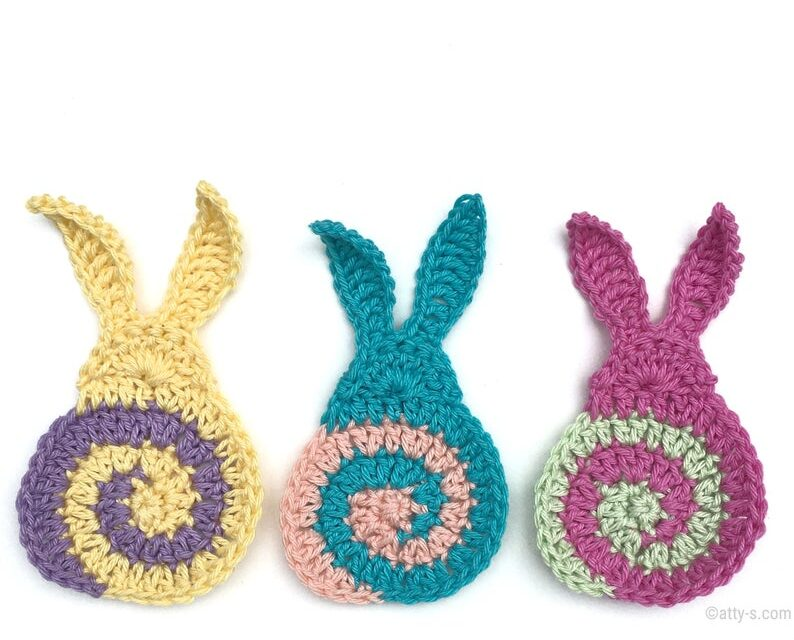 Easter Bunny! You'll Want To Crochet These Spectacular Swirly Bunnies, So Sweet & Colorful …