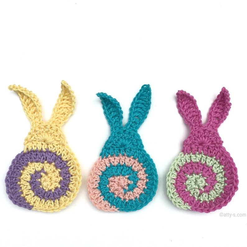 Easter Bunny! You'll Want To Crochet These Spectacular Swirly Bunnies, So Sweet & Colorful ...