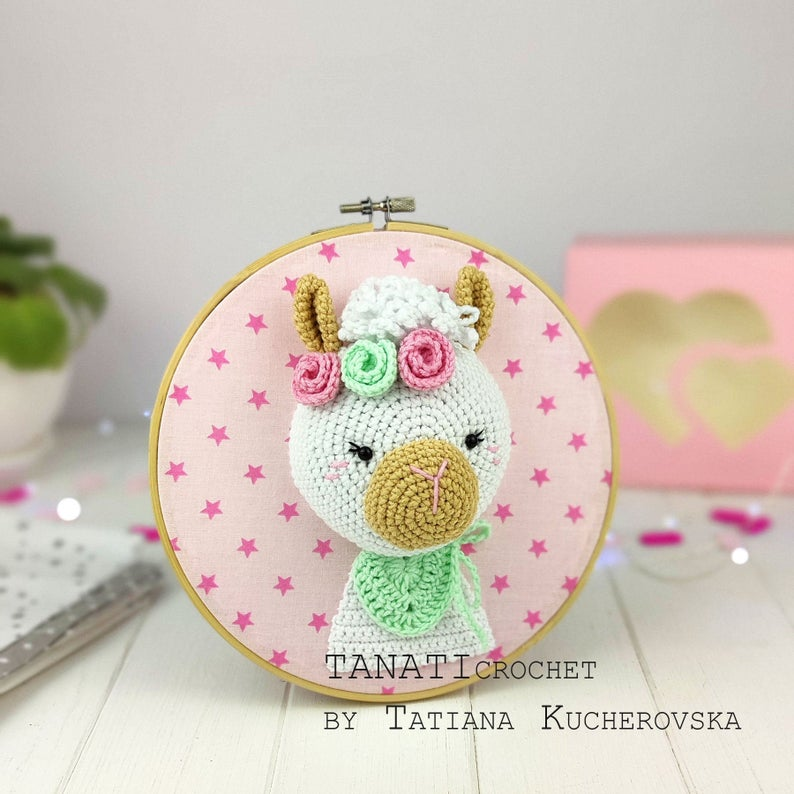 Three Adorable Amigurumi Trophy Heads ... No Animals Harmed, This Is Crochet Fauxidermy!