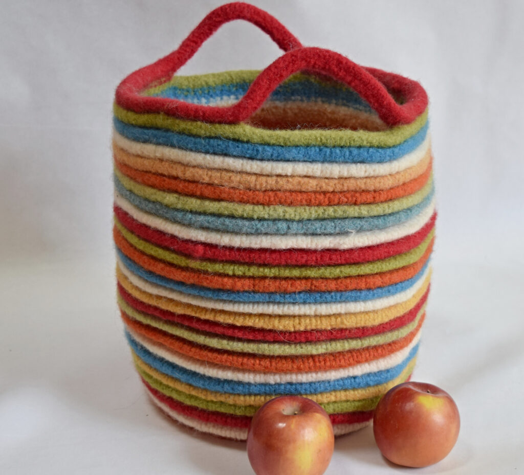 Meet The Felted Ribbed Basket You Need To Add To You Must-Knit List!