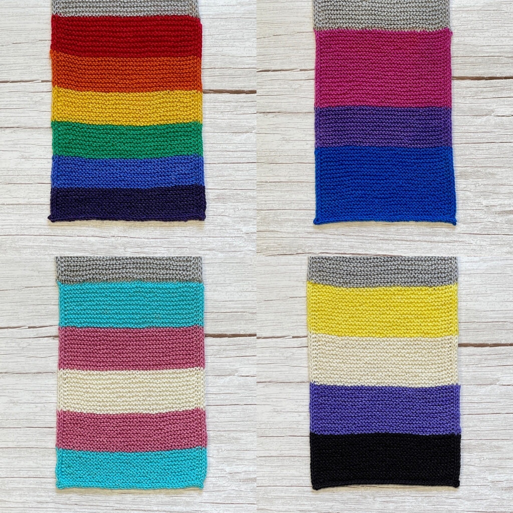 More Than A Rainbow Pride Patterns - Celebrate Gay Pride, Transgender Pride, Non-Binary Pride & Bisexual Pride With These Knit Flag Scarf Patterns