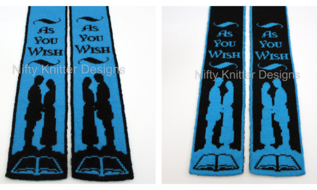 'As You Wish' Double-Knit Scarf Pattern By The Nifty Knitter, Inspired By The Princess Bride