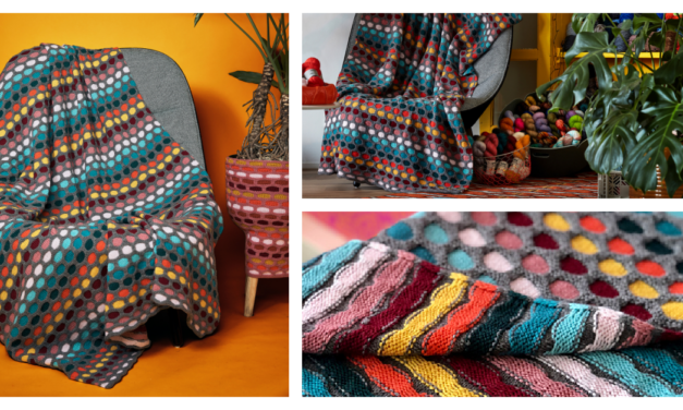 Say Hello To Stephen West's Colorful 'Painting Honeycombs Blanket' … Yes, You *Can* Knit This, Really!