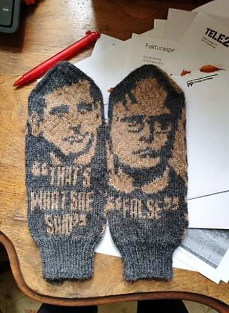 Knit a Pair of Mittens Inspired By 'The Office' Designed By Lotta Lundin