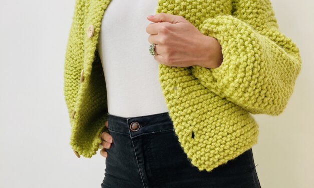 Knit A Puff Cardigan … Say Hello To An Easy Knit That Looks Great!