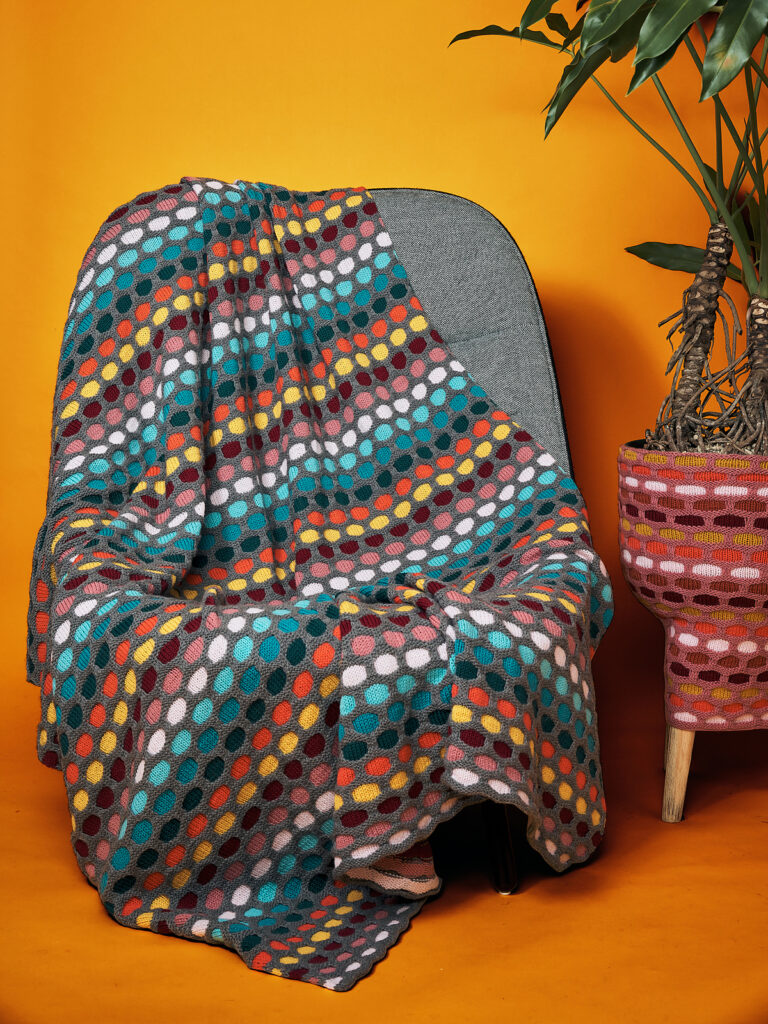 Say Hello To Stephen West's Colorful 'Painting Honeycombs Blanket' ... Yes, You *Can* Knit This, Really!