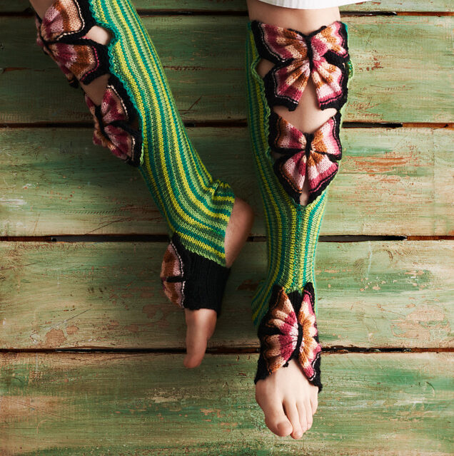 Say Hi To 'Happy Yoga Butterflies' Designed By Kati Mäkelä … You've Never Seen Socks Like This!