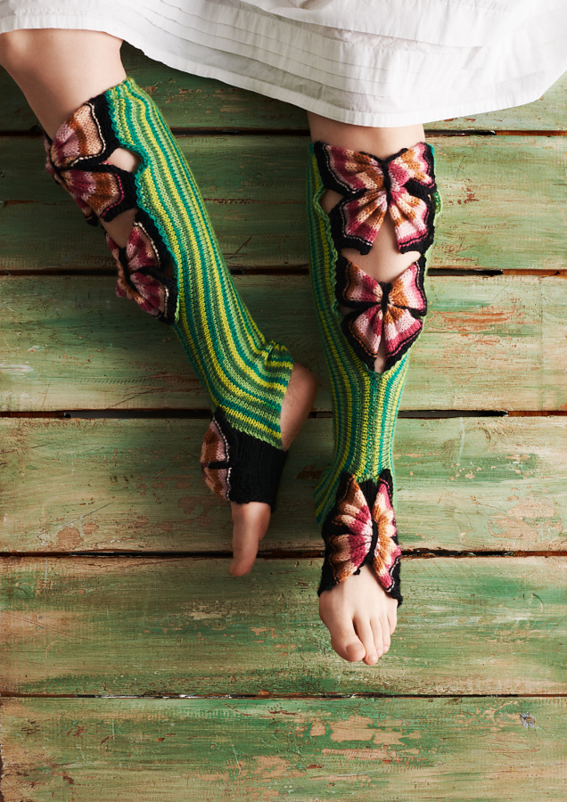 Say Hi To 'Happy Yoga Butterflies' Designed By Kati Mäkelä ... You've Never Seen Socks Like This!