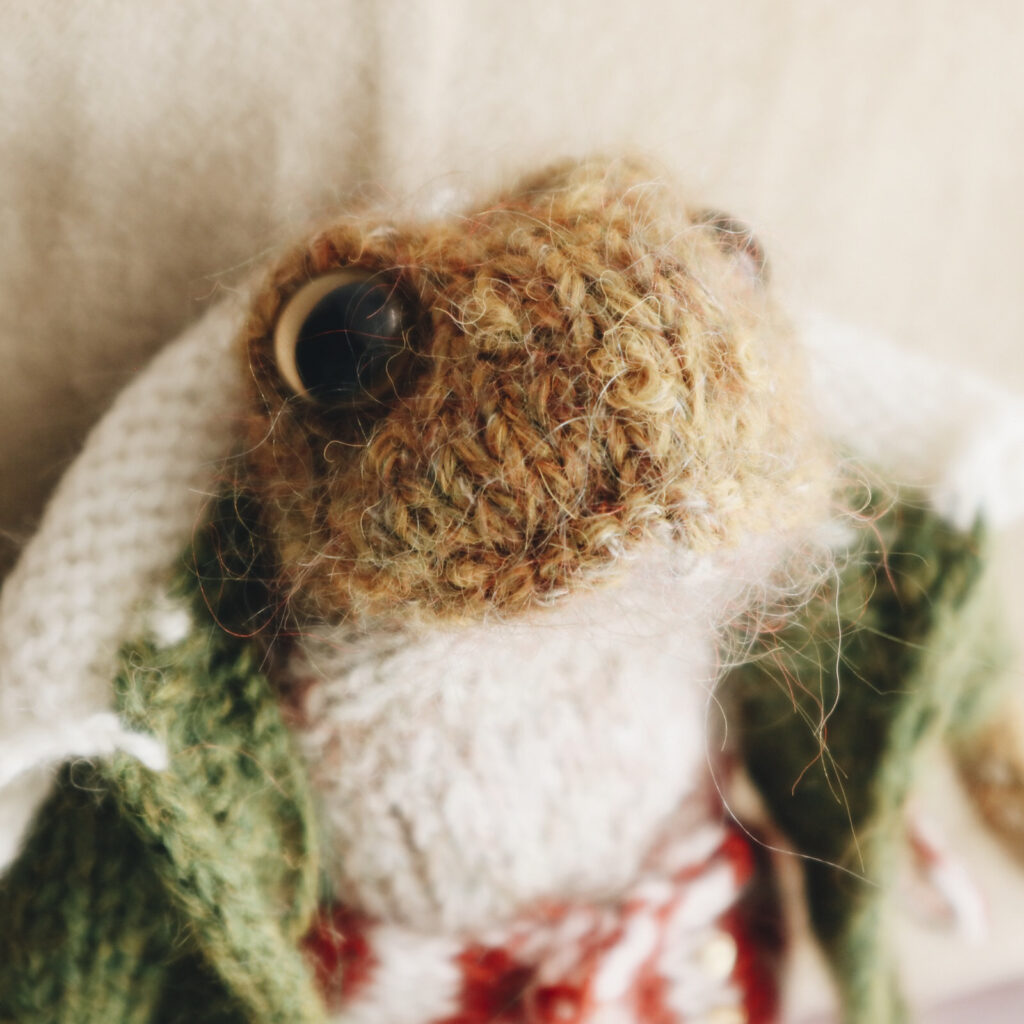 Knit a Mr. Toad, Pattern Designed By Claire Garland ... He Looks Like He's From a Vintage Storybook!