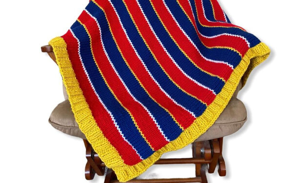 Knit a Fun Sesame Street-Inspired Afghan, Based On Ernie's Iconic Sweater!