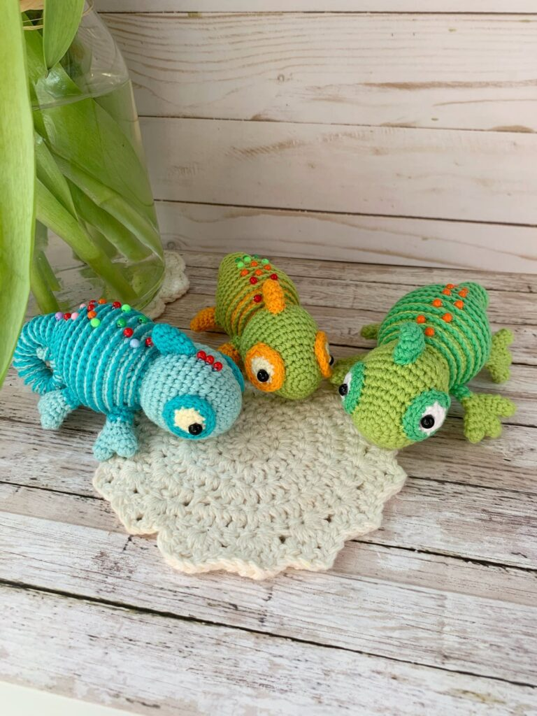 What Goes Around Comes Around ... Crochet a Karma Chameleon Amigurumi As a Friendly Reminder!