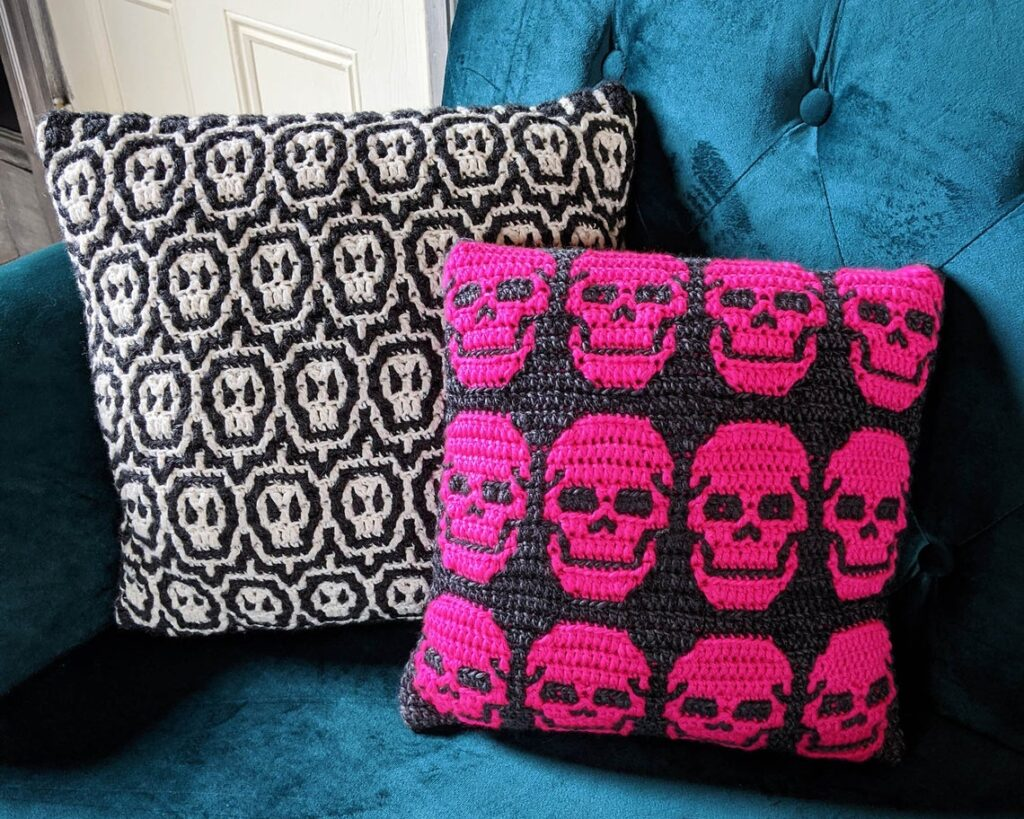 Perfect Pillow Mosaic Crochet Patterns & Charts Designed By Alexis of Sixel Home