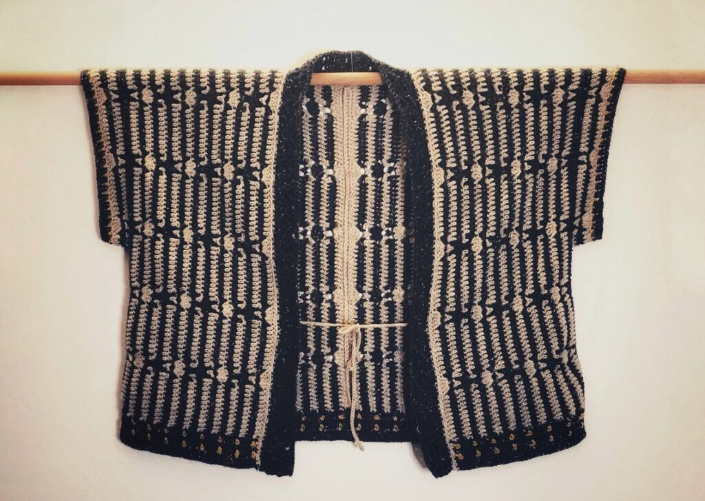 Crochet a 'His Harvest Cardigan' - It's a Unisex, Kimono-Style Sweater!
